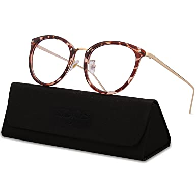 d1c5b3bf63 SojoS Round Women Eyeglasses Fashion Eyewear Optical Frame Clear Glasses  SJ5969 with Brown Demi  Amazon.co.uk  Clothing