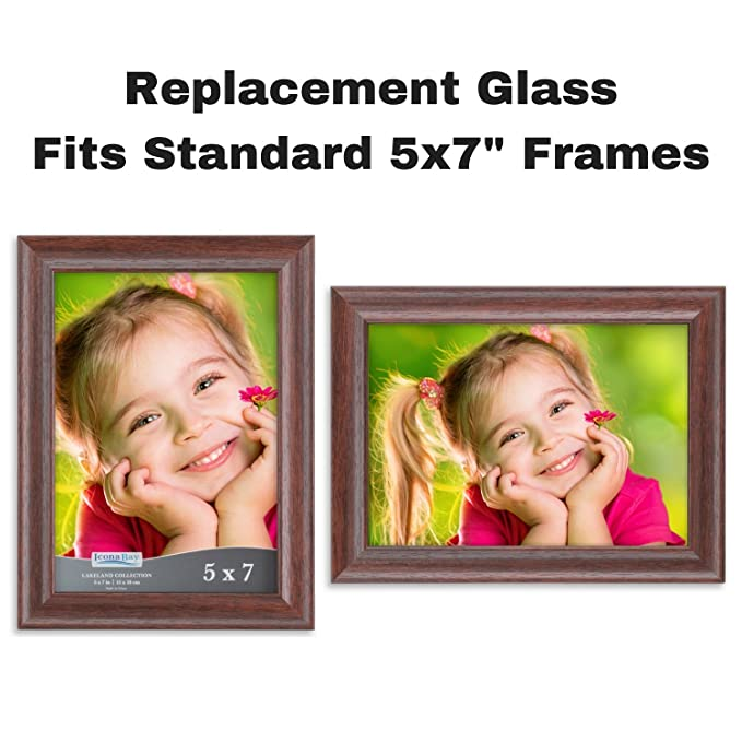 Amazon.com - Icona Bay 5x7 Picture Frame Glass Replacement (5 x 7, 2 ...