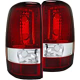 Autozensation For Chevy Suburban Tahoe//GMC Yukon Denali XL Red Clear Tail Lights Brake Lamp Pair