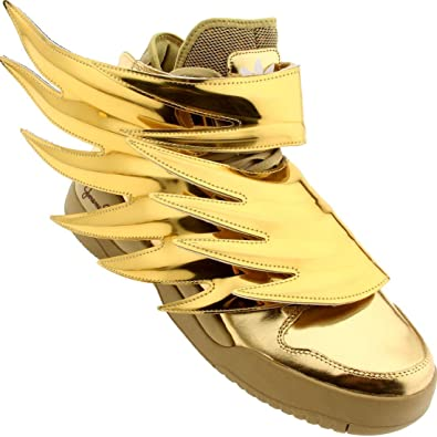 new concept 793f9 d4051 Amazon.com   Adidas x Jeremy Scott Men JS Wings 3.0 (gold)-8.0   Fashion  Sneakers