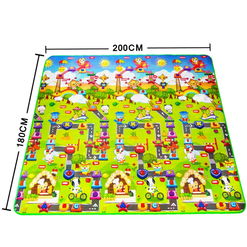 RXIN Baby Mat Double Side Baby Play Mat Eva Foam Developing Mat for Children Carpet Kids Toys Gym Game Rug Crawling Gym Playmat Gift