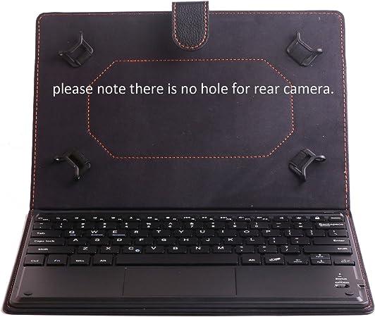 J&H Funda de Piel para Teclado de Tableta Lenovo IdeaTab S6000, Funda de Teclado de Piel sintética con Teclado Bluetooth (Teclado TOUCHPAD Mouse) para Lenovo IdeaTab S6000H/S6000F/S6000L: Amazon.es: Electrónica