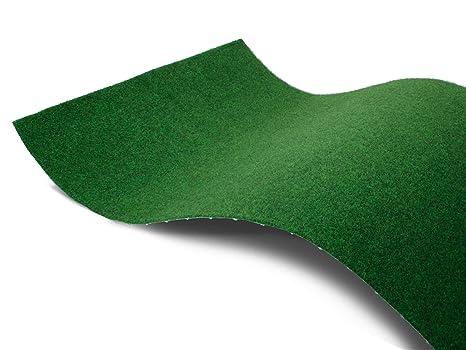 Rasenteppich für Balkon Meterware COMFORT - 1,33m x 1,50m Vlies-Rasenteppich mit Noppen, Balkon Bodenbelag, Outdoor Teppich