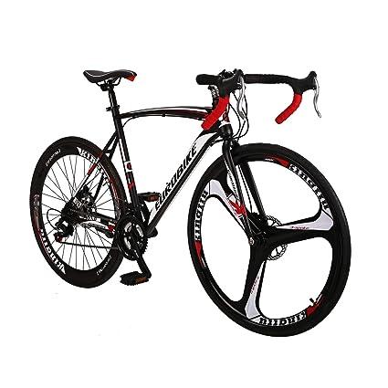 Road Bike LZ-550 Steel Bicycle disc Brake 21 Speed Road Bike