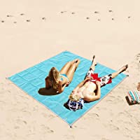 Dotopon Sand Free Beach Mat Blanket Fast Dry Easy to Clean, Outdoor Picnic Mattress 1.5 X 2m PVC Sand Beach Less Blanket