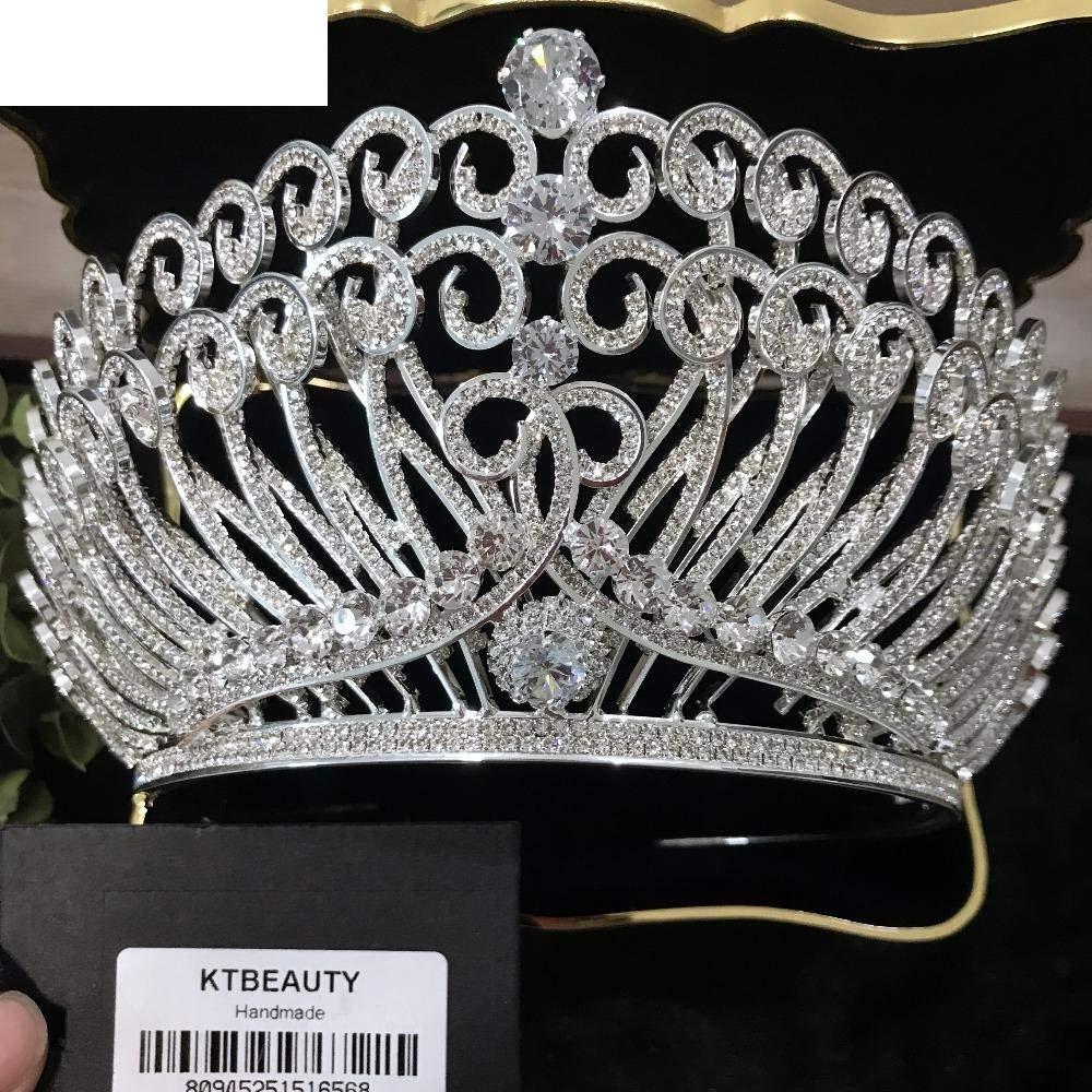 Wedding Exquisite Boutique Advanced Custom Luxury Zircon Rhinestone Crown Tiara Crown Tiara Diadem Pageant Princess Royal Special Birthday Party Bridesmaid Crown 387