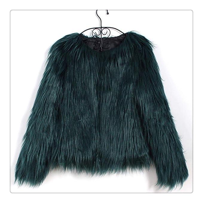 Amazon.com: DIRENTO & Naiveroo - Abrigo de pelo para mujer ...