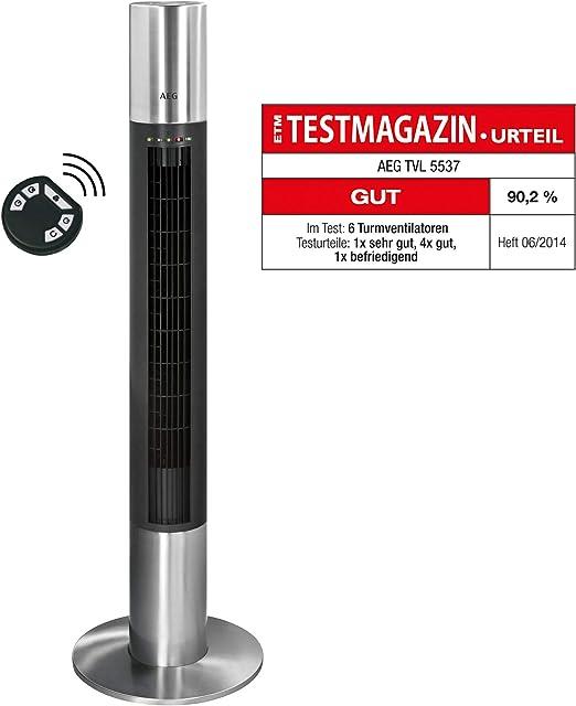 AEG 520041 40W Negro, Acero inoxidable - Ventilador (Negro, Acero ...