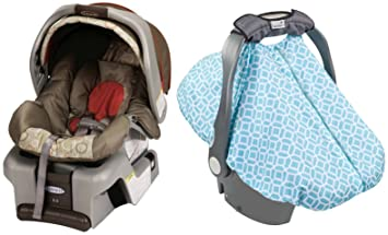 Graco SnugRide Classic Connect 30 Infant Car Seat With Diamond Links Cover Forecaster