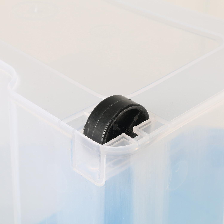 Anthrazit Ma/ße: ca axentia Aufbewahrungsbox mit Rollen /& Deckel blau oder gelb 60 x 40 x 26 cm Eurobox transparent Farbe nicht w/ählbar Stapelbox aus Kunststoff 45 Liter