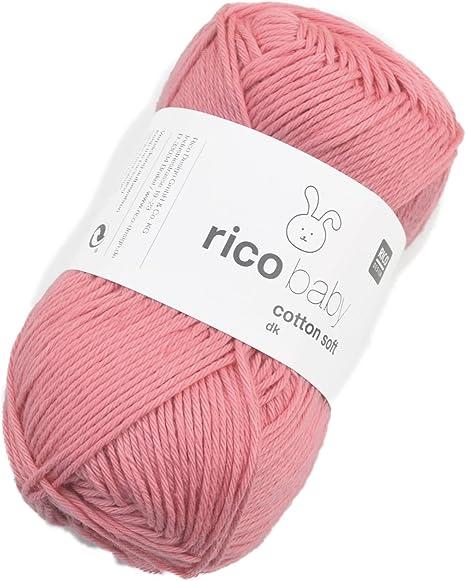 Rico Baby Cotton Soft DK Fb. 053 Flamingo, suave bebé lana, hilo de mezcla de algodón para tejer &: Amazon.es: Hogar