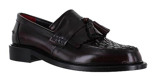 f66d3725650 Delicious Junction Locky Mens Tassel True Weave Leather Sole MOD SKA Loafers