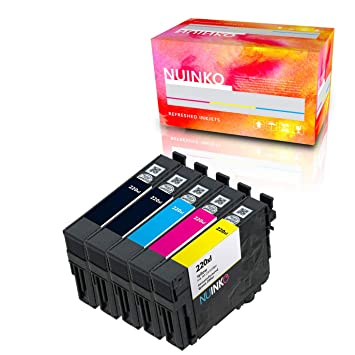 Amazon.com: nuinko 5 Pack Remanufacturado Epson 220 x l ...