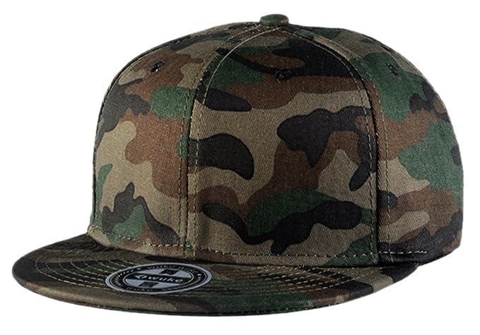 Aivtalk - Gorra de Béisbol Unisex Camuflaje Hip Hop Snapback Sombrero Plano  Dance Hat Moda Accesorio  Amazon.es  Ropa y accesorios 36b82ba2769
