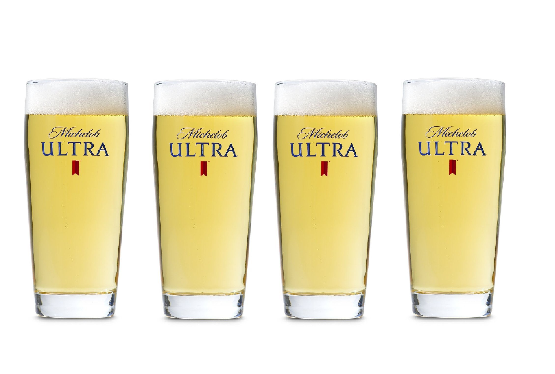 Michelob Ultra 4-Pack Willi Becher Glasses