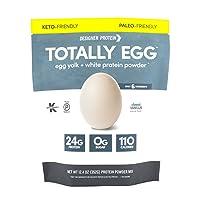 Designer Protein Totally Egg, Classic Vanilla, 12.4 Oz, Paleo and Keto friendly...