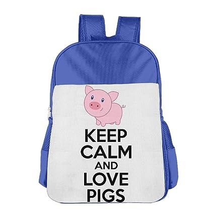 Keep Calm And Love cerdos de Boy s & Niñas Schoolbag Mochila escolar hombros bolsa
