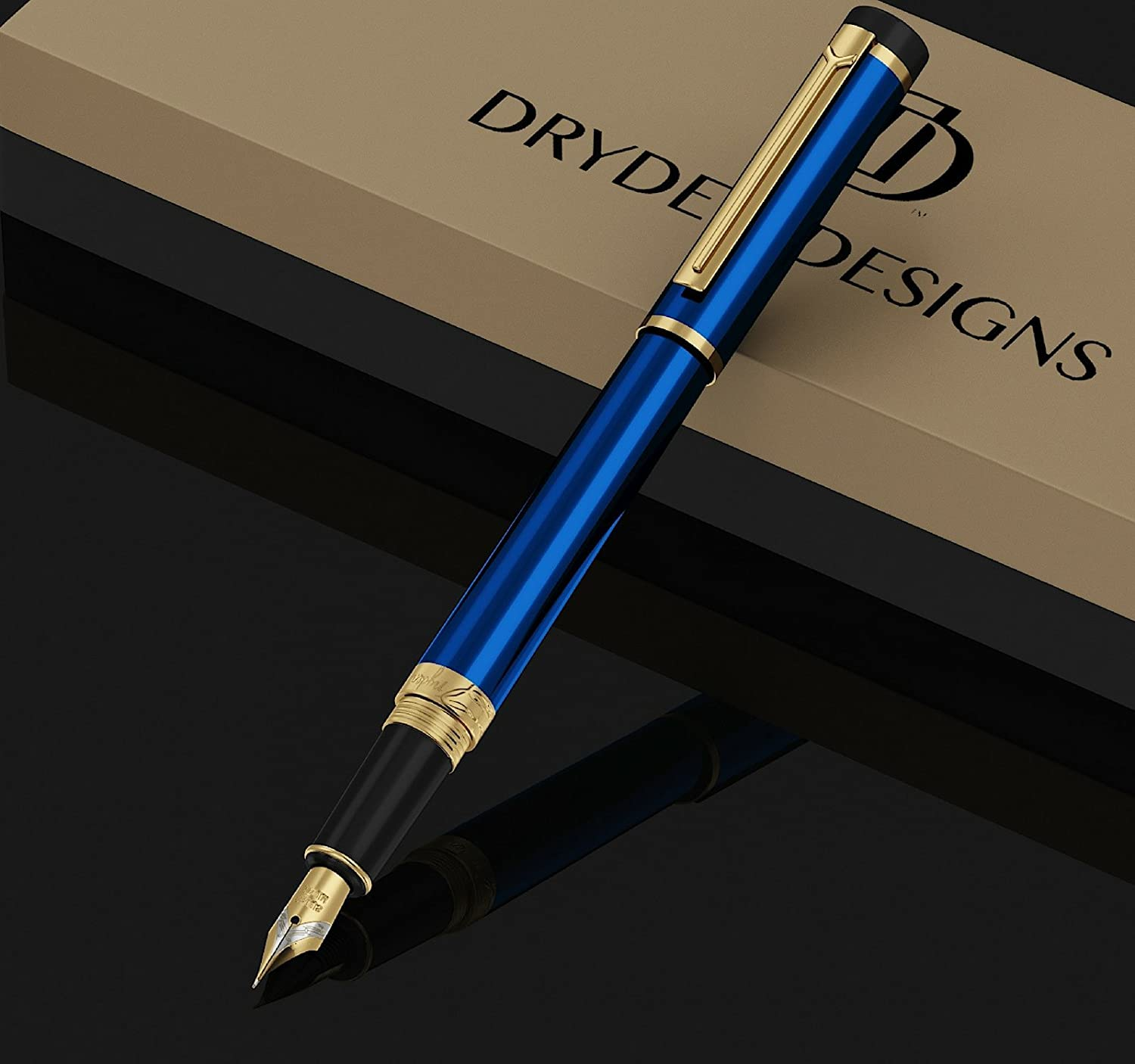 Ink Refill Converter Dryden Luxury Fountain Pen Executive Fountain Pens Set Business Gift Pen Vintage Pens Collection Calligraphy | Modern Classic Limited Edition INTENSE BLACK