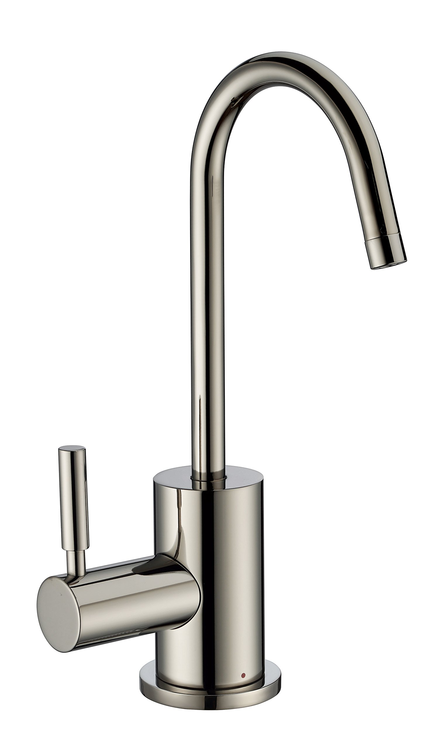 Whitehaus Collection WHFH-H1010-PN Forever Point of Use Instant Hot Water Faucet with Contemporary Spout and Self Closing Handle, Polished Nickel