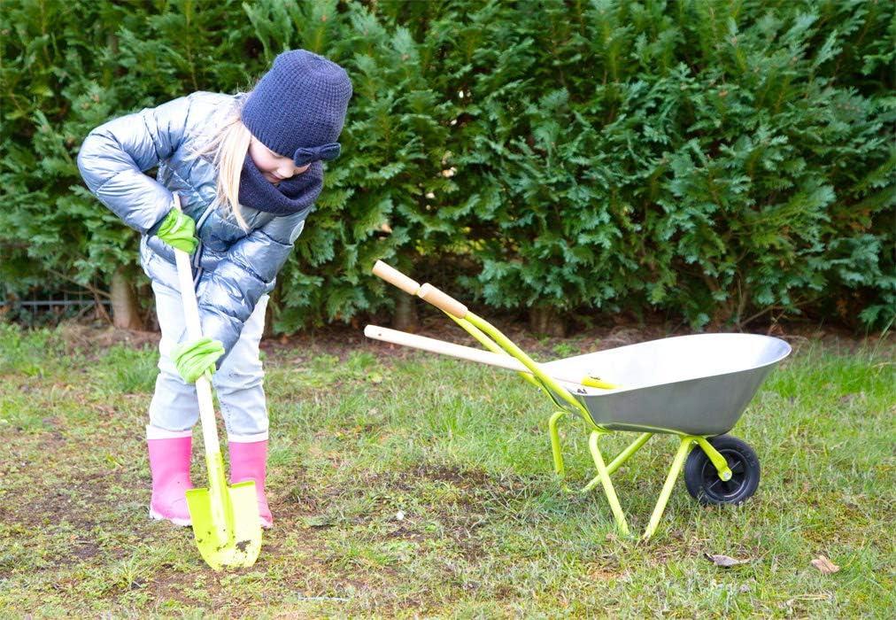 da 3 anni Giocattoli incl Small Foot Carriola con utensili da giardino 11627 vanga e rastrello per esterni guanti