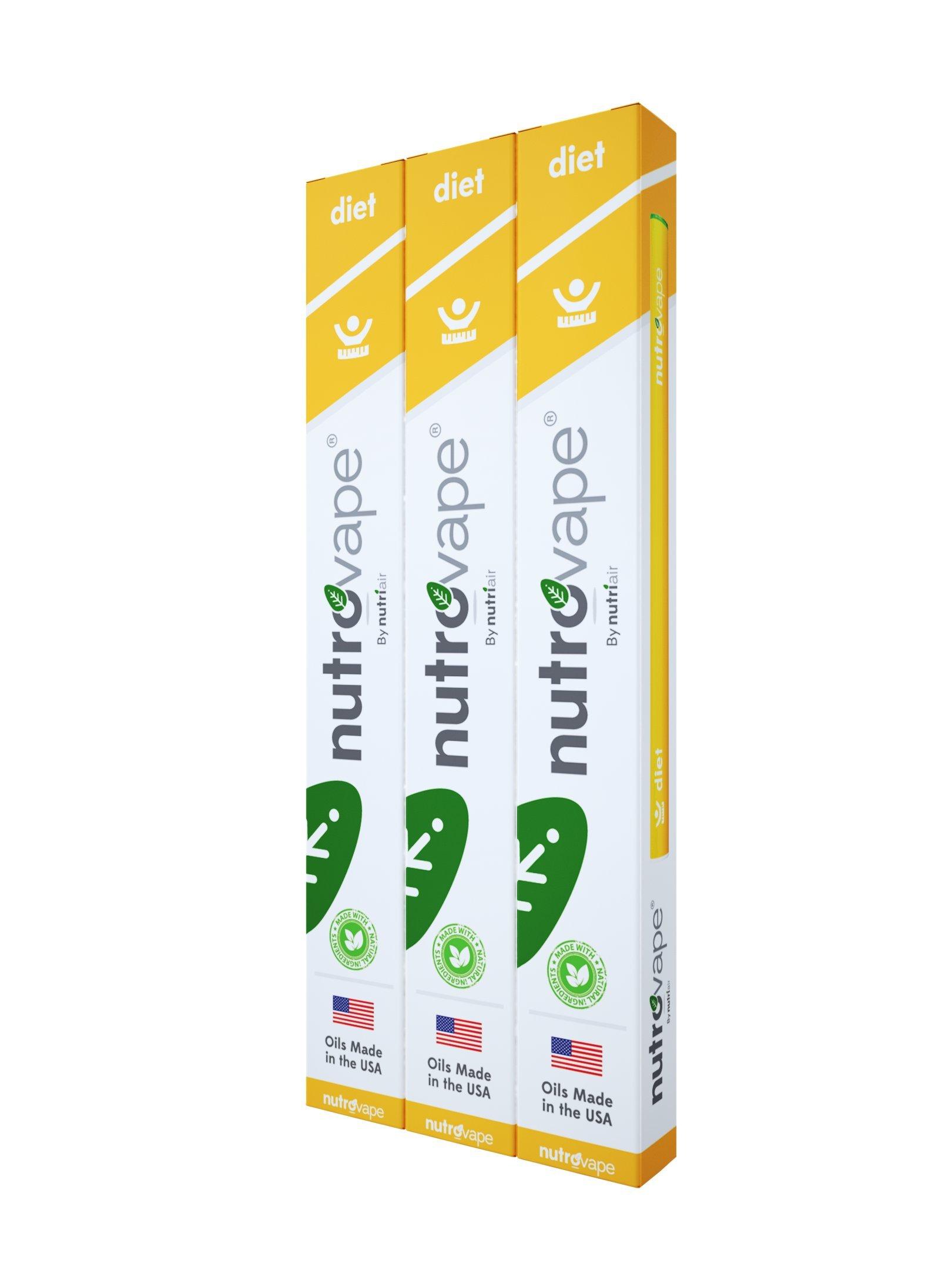 Nutrovape | World's 1st Diet Inhaler | Hunger Suppressant, Promotes Healthy Weight Loss | Diet Pill Alternative | All Natural Hoodia Gordonni, Garcinia Gambogia, Green Tea Extract (3)
