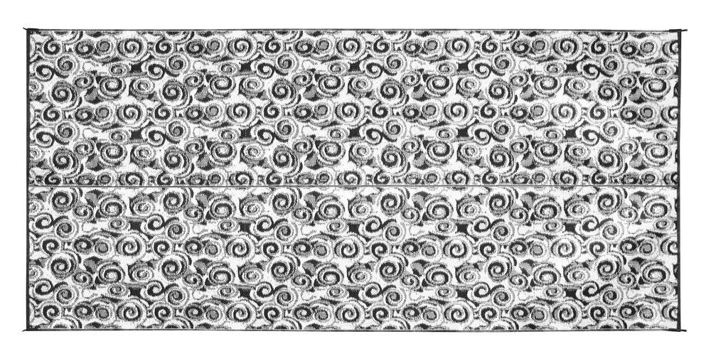 Charcoal Swirl 8 Feet x 16 Feet Camco 42879 6'X 9' Leisure Mat Chevron Green