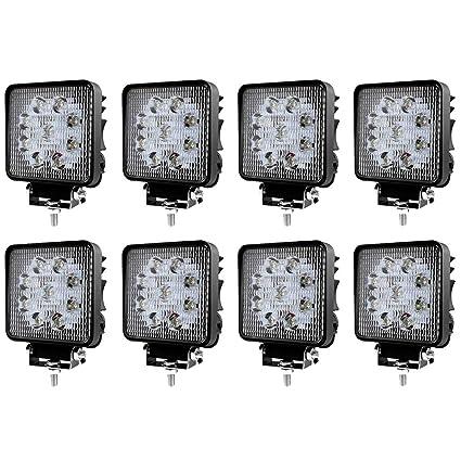 4x 27W 10-30V IP67 Quadrat Arbeitsscheinwerfer Offroad Zusatzscheinwerfer SUV