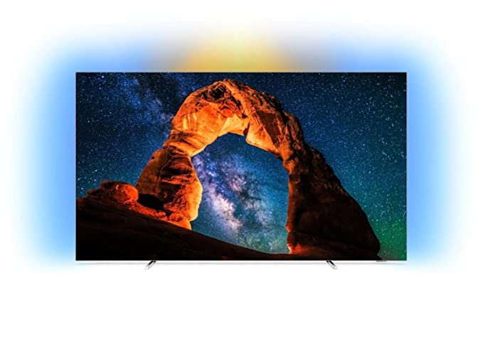 Philips 65OLED803/12 - Televisor Ambilight Smart TV de 65 pulgadas con 4K UHD, P5 Perfect Picture Engine, Ultra HD Premium, 99 % Wide Color Gamut y Android TV