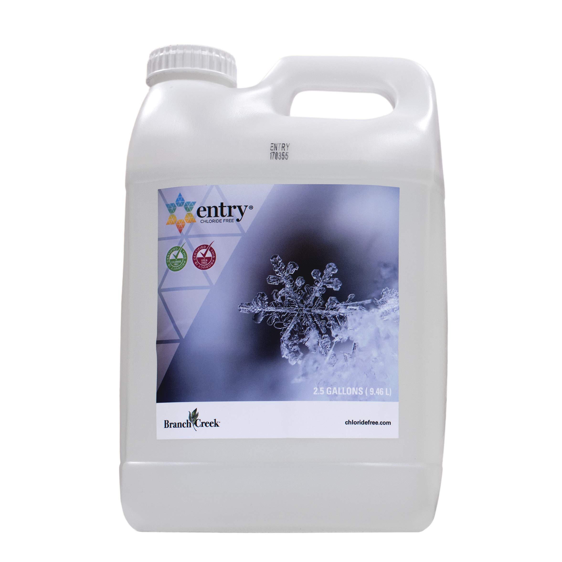 Branch Creek Entry Chloride-Free, Non-Toxic, Liquid Snow and Ice Melt Safer for Pets, Plants, Floors, Concrete, Sidewalks, and Metal for Residential or Commercial Use (2.5 Gallon) by Branch Creek