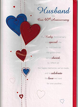 Amazon for my husband on our 40th anniversary greeting card for my husband on our 40th anniversary greeting card m4hsunfo