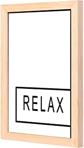 LOWHA relax Wall Art with Pan Wood framed Ready to hang for home, bed room, office living room Home decor hand made wooden color 23 x 33cm By LOWHA