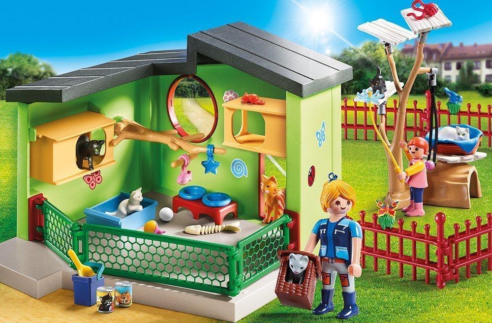 Playmobil Set: 9276 Refugio de Animales para Gatos + 9277 Refugio de Animales para Pequeños Animales: Amazon.es: Juguetes y juegos