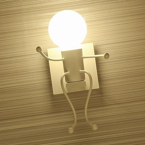 SOUTHPO LED Wall Light Fixtures Creative Cartoon Little People ...