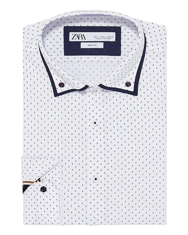 7f93274a Zara Mens White Slim Fit Shirt - DREAMWORKS