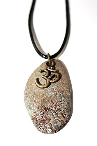 Colgante con el símbolo del OM con piedra natural/Símbolos ...