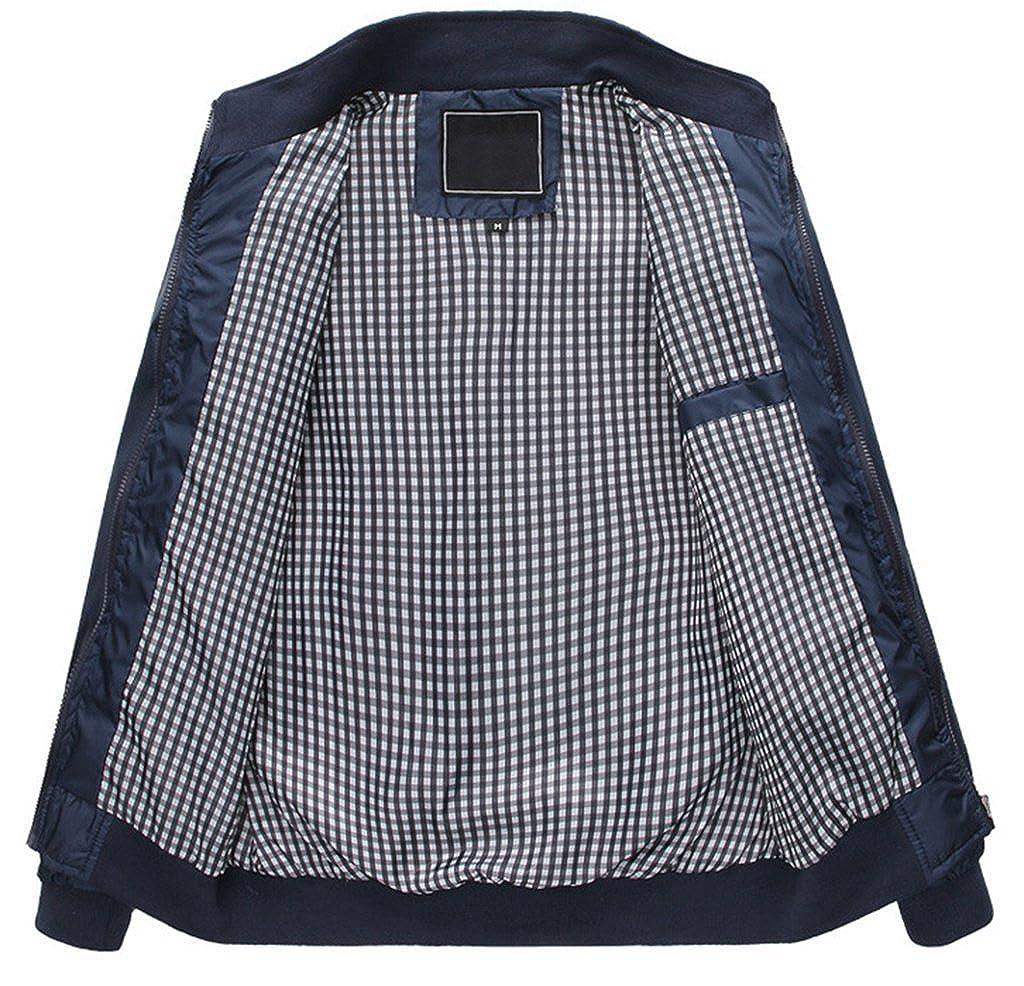 ZSHOW Hombres cortavientos ligero vuelo Bomber chaqueta impermeable para mujer, chaqueta, Hombre, color azul, tamaño Talla única: Amazon.es: Ropa y ...