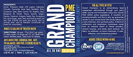 Blue Gold Grand Champion 30 Day Pet Supplement Study Proven Against Leading  Pet Antibiotic  Preventative Pet Dewormer  Increase Pet Health Immune