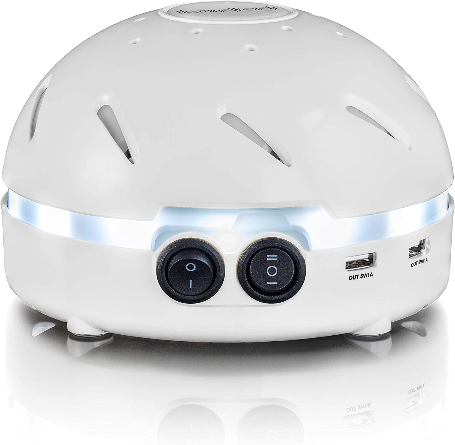 HemingWeigh White Noise Sound Machine Quality Sounds Masks Disturbing Noise and Reducing Sound for Improved Sleep Relaxation and Enriched Concentration – Built in USB LED Night Light.