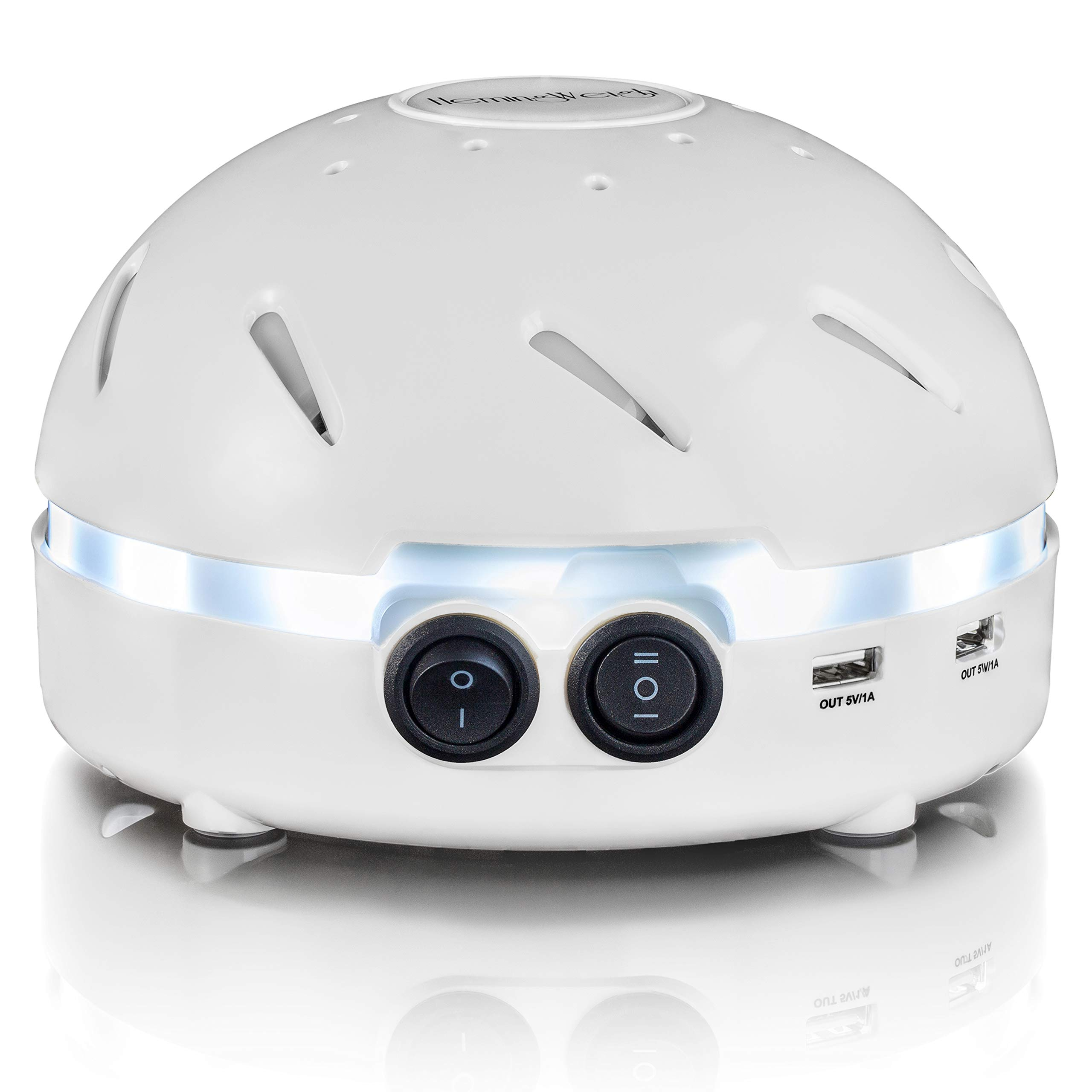 HemingWeigh White Noise Sound Machine - Quality Sounds Masks Disturbing Noise and Reducing Sound for Improved Sleep Relaxation and Enriched Concentration - Built in USB & LED Night Light. by HemingWeigh