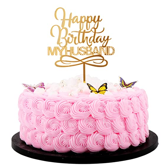 Fine Artczlay Happy Birthday Cake Topper Husband Happy Birthday Cake Funny Birthday Cards Online Fluifree Goldxyz
