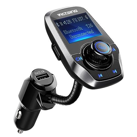 9 opinioni per Trasmettitore FM Bluetooth, VicTsing Trasmettitore per Auto Chiamate Hands-free,