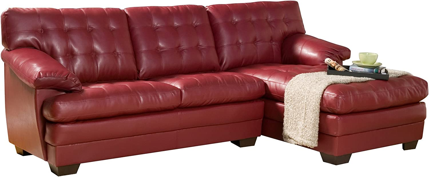 Homelegance Channel-Tufted 2-piece Sectional Sofa Set