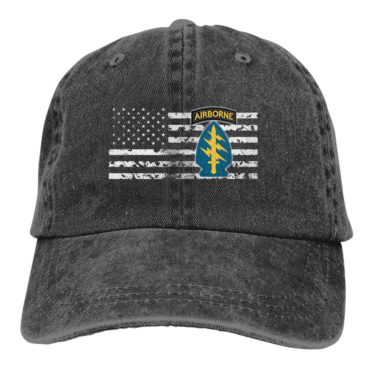 TBVS 77 Men Women Adjustable Denim Jeans Baseball Cap Special Forces Headwear