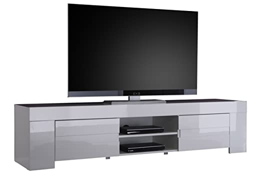 Tv Schrank Eos Gross Mit 2 Turen 190 X 45 X 50 Cm Weiss Hochglanz