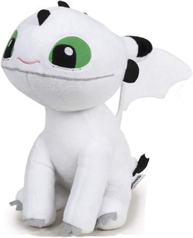 HTTYD Dragons, como Entrenar a tu dragón - Peluche Bebe Dragon Blanco de Ojos Verdes 10