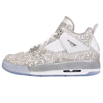 nike Jordan Kids Retro 4 Laser White/Metallic Silver/Chrome 705334-105