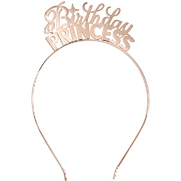 Amazon.com: Diadema de princesa de cumpleaños, tiara, fiesta ...