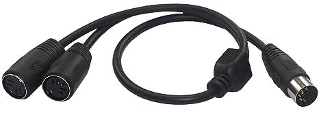 ks-midi0.5 Midi DIN 5 pines divisor adaptador en Y Cable, MIDI