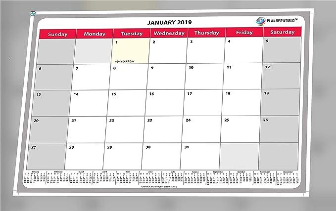 Calendario de pared 2018, cuadro de notas, planificador con ...
