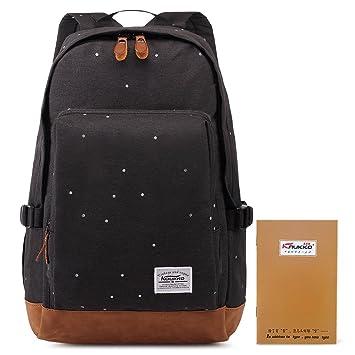 Kaukko Lightweight Waterproof Backpack Vintage Canvas Shoulder ...